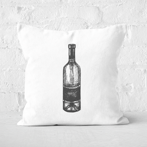 Wine Bottle Square Cushion