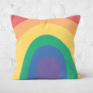 Close Up Rainbow Square Cushion