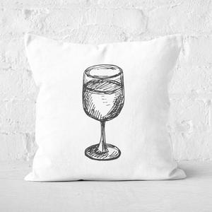 Wine Glass Square Cushion