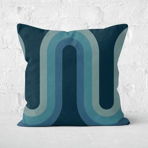 Blue Groove Square Cushion