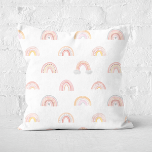 Rainbow Pattern Square Cushion