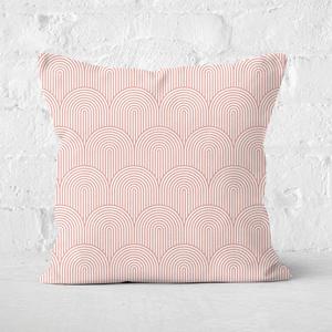 Trippy Rainbow Pink Square Cushion