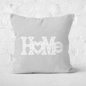 Home Typographic Square Cushion