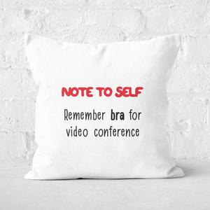 Remember Bra Square Cushion