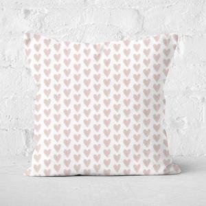 Pink Hearts Square Cushion