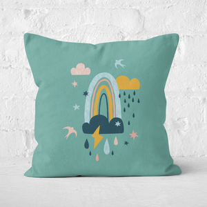 Rainbow Weather Square Cushion