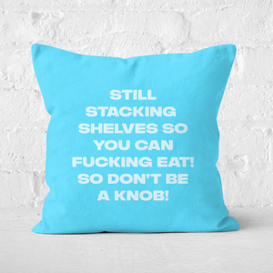Still Stacking Shelves Square Cushion