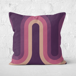 Purple Groove Square Cushion