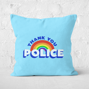 Thank You Police Square Cushion