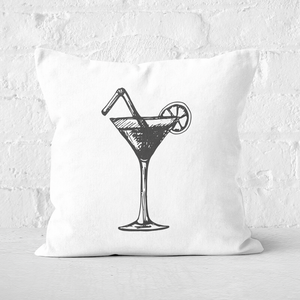 Beach Cocktail Square Cushion