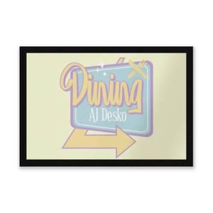 Dining Al Desko 60s Entrance Mat