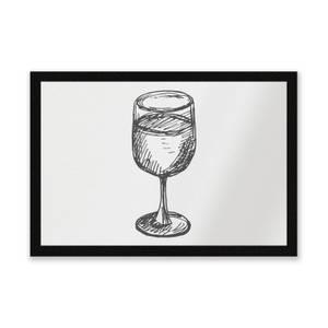 Wine Glass Entrance Mat