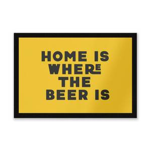 Home Is Where The Beer Is Entrance Mat