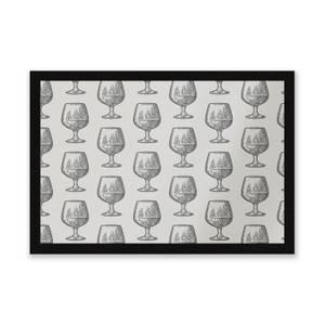 Whisky Glass Pattern Entrance Mat