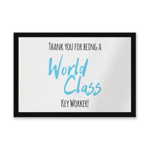 Thank You For Being A World Class Key Worker! Entrance Mat