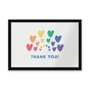 Thank You Rainbow Hearts Entrance Mat