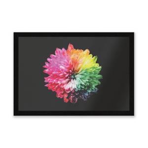 Fluro Flower Entrance Mat