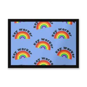 Key Worker Rainbow Entrance Mat
