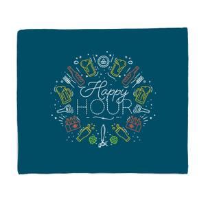 Happy Hour Fleece Blanket