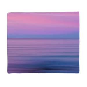 Sunset Purple Tones Fleece Blanket