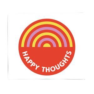 Happy Thoughts Fleece Blanket