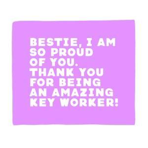 Bestie, I Am So Proud Of You Fleece Blanket