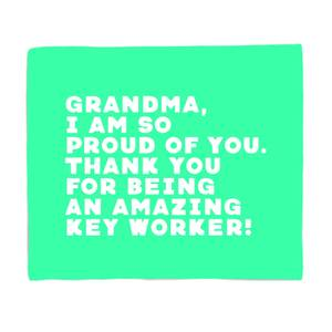 Grandma, I Am So Proud Of You. Fleece Blanket