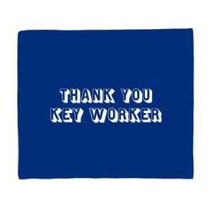 Thank You Key Worker Fleece Blanket