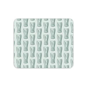 Beer Glass Pattern Mouse Mat