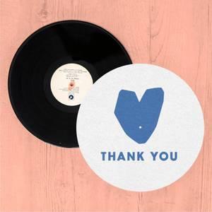 Blue Heart Thank You Slip Mat