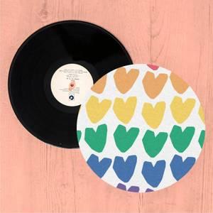 Rainbow Hearts Slip Mat
