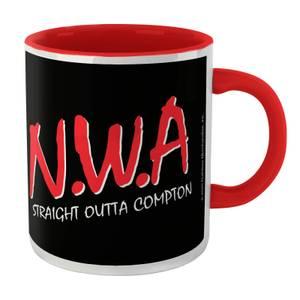 NWA Straight Outta Compton Mug - White/Red