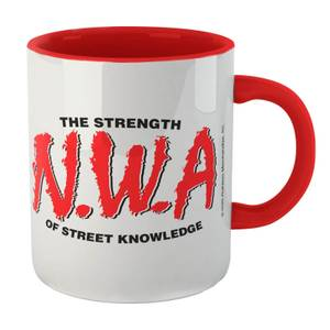 The Strength Of Street Knowledge Mug - White/Red
