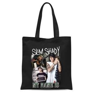 Eminem My Name Is Slim Shady Tote Bag - Black