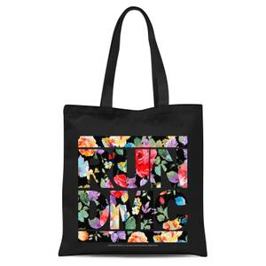 Tote Bag Floral RUN DMC - Nero