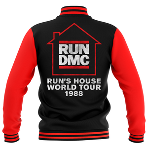 Giacca College Run's House World Tour 1988 - Rosso/Nero - Unisex