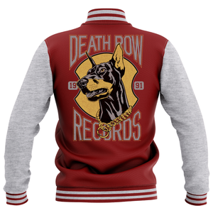Giacca College Death Row Records - Grigio/Bordeaux - Unisex
