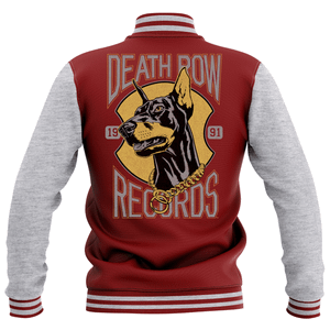 Veste Teddy Death Row Records - Bordeaux/Gris - Unisexe