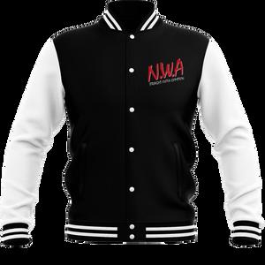 NWA Straight Outta Compton Men's Varsity Jacket - Black / White