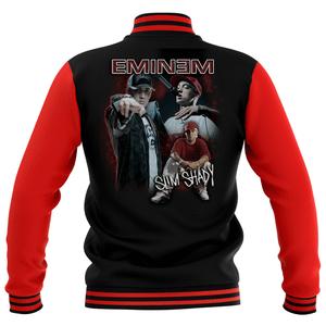 Eminem Unisex Varsity Jacket - Black / Red