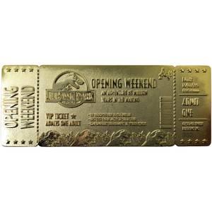 Jurassic Park 24K Ticket Plaqué Or - Édition limitée