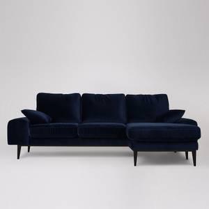 Swoon Tulum Velvet Corner Sofa - Right Hand Side
