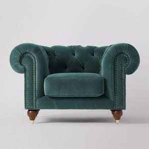 Swoon Winston Velvet Armchair