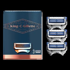 King C. Gillette Neck Razor Blades (3 Pack)