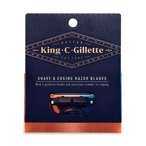 King C. Gillette Bartrasierer Klingen (3 Stück)
