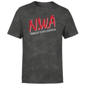 N.W.A Straight Outta Compton Unisex T-Shirt - Black Acid Wash