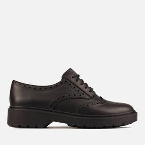 Clarks Women's Witcombe Echo Leather Brogues - Black