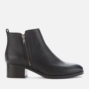 Clarks Women's Mila Sky Leather Heeled Ankle Boots - Black
