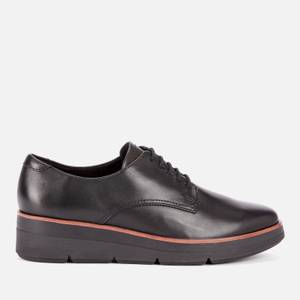 Clarks Women's Shaylin Lace Leather Shoes - Black
