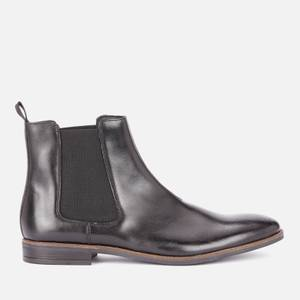 Clarks Men's Stanford Top Leather Chelsea Boots - Black